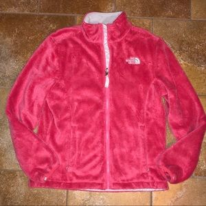 Women's pink north face jacket size M